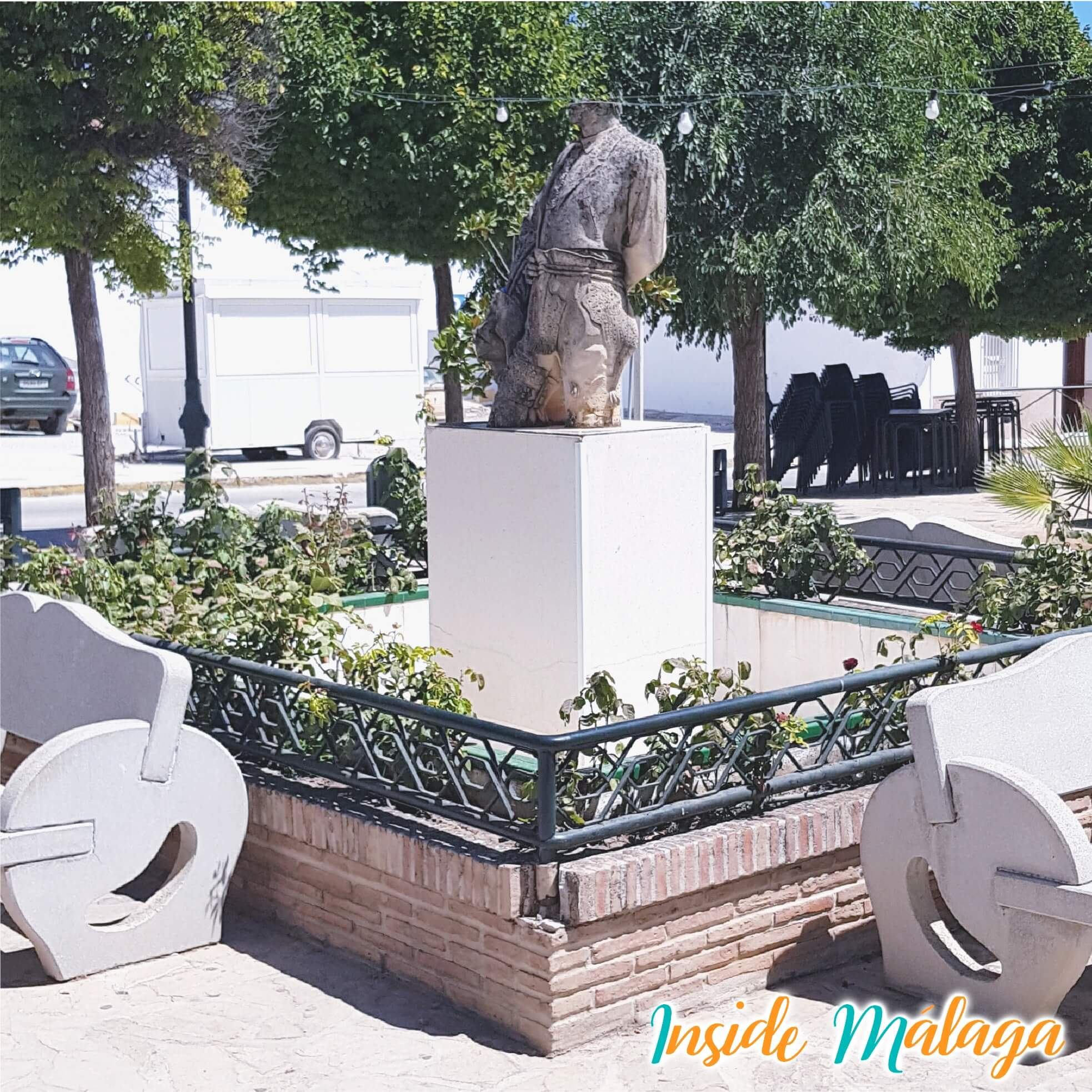 Square Sculpter Miguel Berrocal Villanueva de Algaidas Malaga