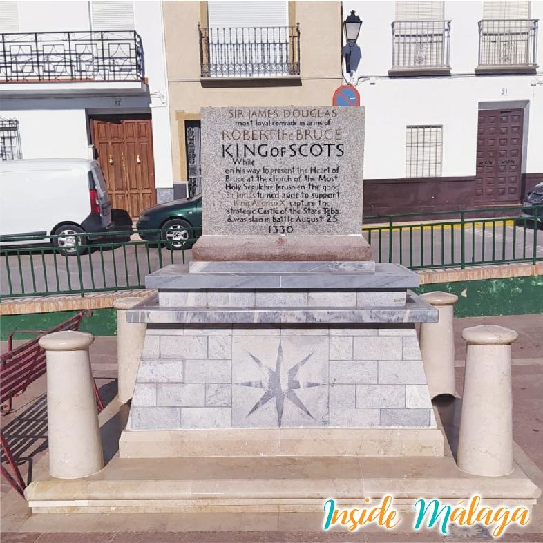Monument Sir James Douglas Teba Malaga