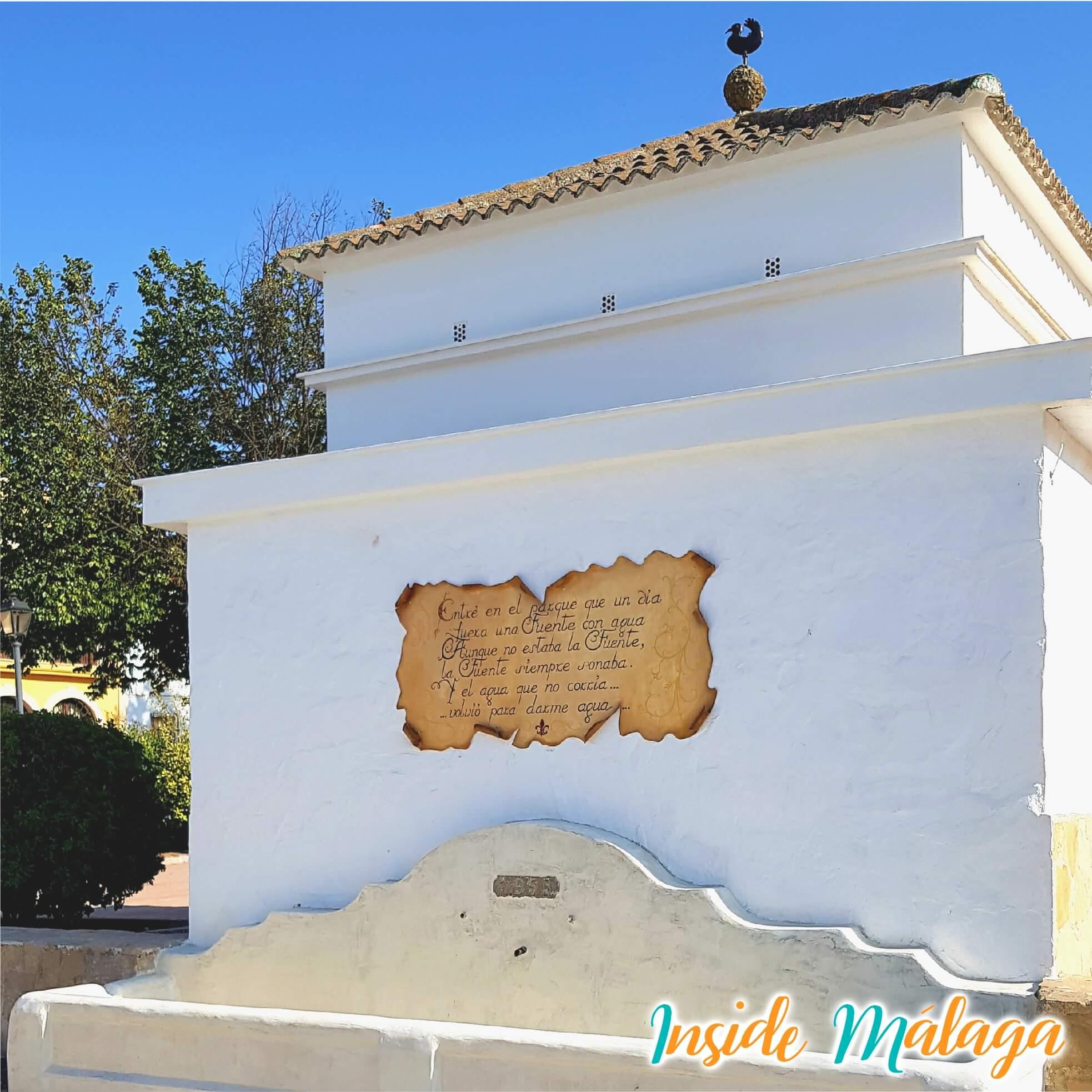 Fuente Agua Sierra de Yeguas Malaga
