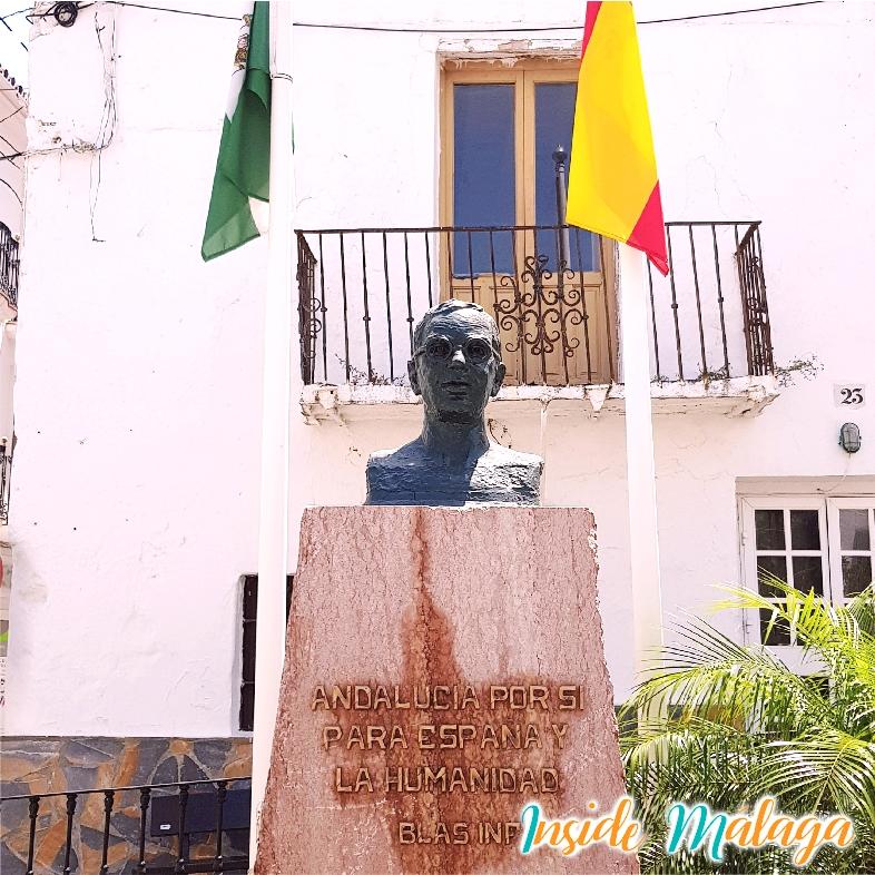 Monumento Busto Blas Infante Casares Malaga