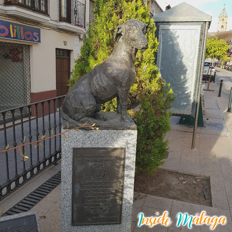 Monument Dog Fair Archidona Malaga