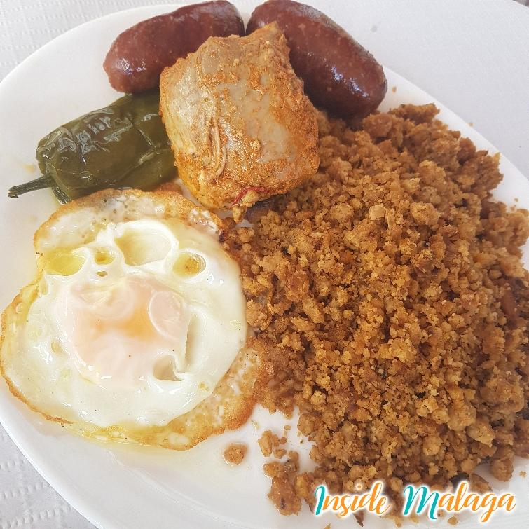 Migas Restaurant La Romana Casabermeja Malaga Dish
