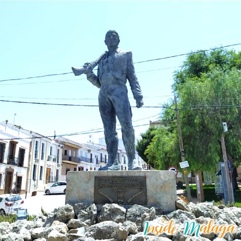Monument a El Tempranillo Bandit Alameda Malaga